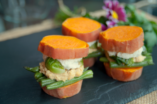 Sweet Potato Hummus & Veggie Sliders (Vegan, Gluten Free)