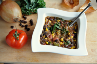 Black Bean and Kale Soup (Vegan, Gluten Free)